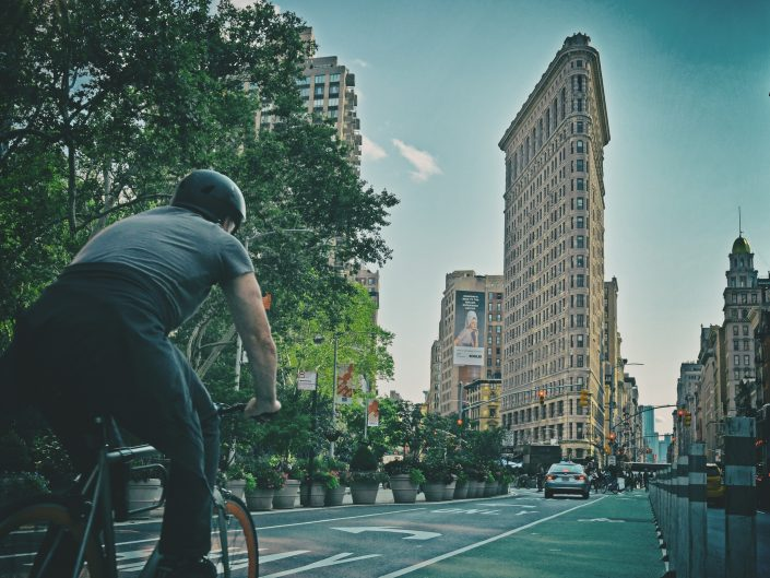 Cycling towards Flatiron — New York, 2017