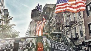 Marte's street campaign — New York, 2017