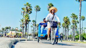 Cycling the beach for a living— Santa Monica, 2018