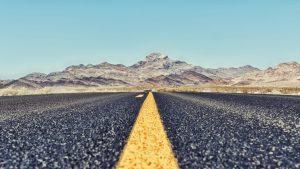 Straight ahead — Death Valley, CA, 2018