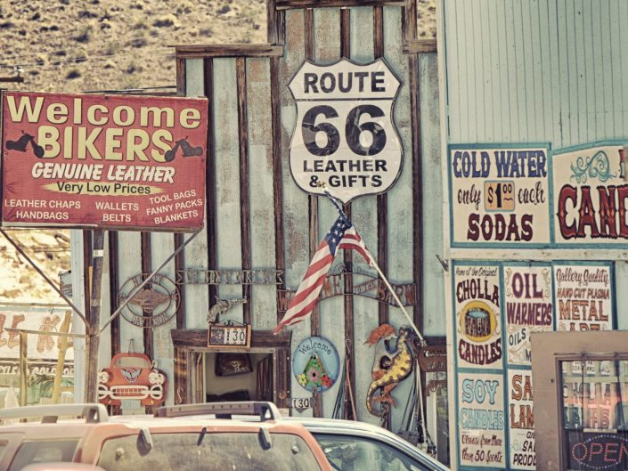 Wild West shopping — Oatman, AZ, 2018