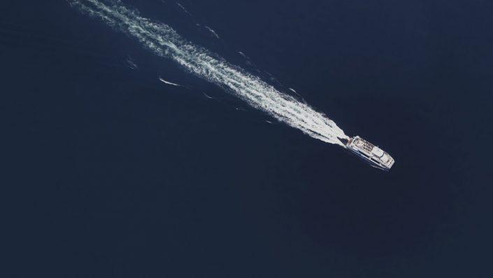 Tourists sailing to Cies Islands — Vigo, 2019